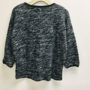 Madewell Gray Heathered Cotton Sweater